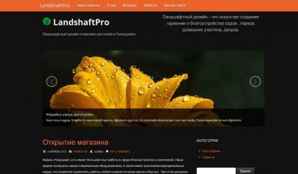 Сайт студии ландшафтного дизайна